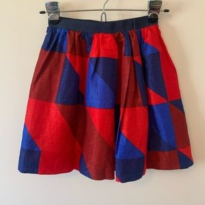 Crewcuts Red And Blue Plaid Skirt Size 12